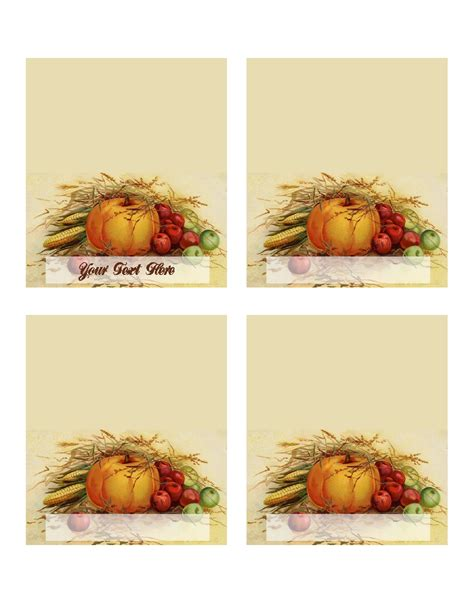 Free Place Card Templates For Thanksgiving by Free Template Thanksgiving Place Cards Mxmixe