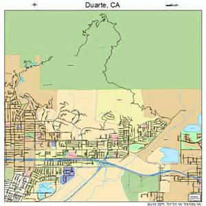 duarte california map 0619990