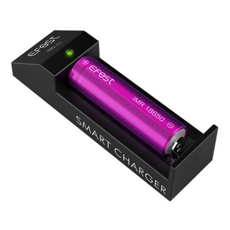 Efest Pro C1 Battery Charger 1 Slot For Li Ion Black T3010 4 efest pro c1 lithium 3 7v smart battery charger