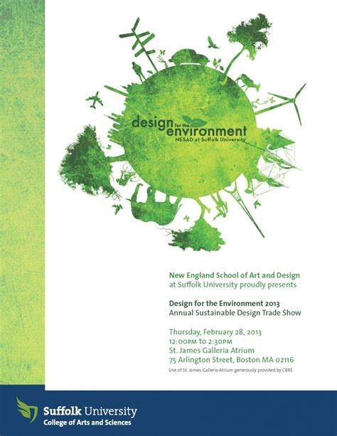 design for environment sustainability thursday march 31 12 00 noon 2 30 pm design for the