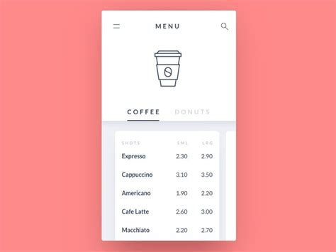 mobile menu template 17 best ideas about coffee menu on coffee