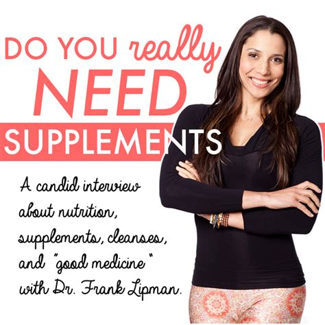 What Is Detox Frank Lipman by Do You Really Need Supplements With Dr Frank Lipman
