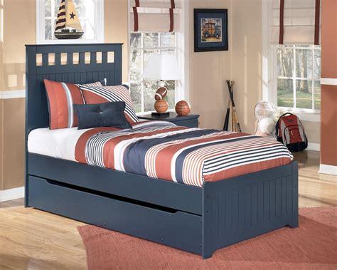 leo twin bed  storagetrundle  signature design  ashley furniture kids furniture