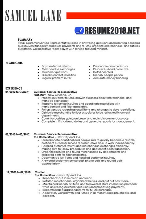 resume format 2018 sle how resume 2018 looks like resume templates 2018