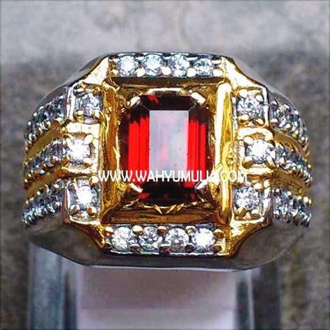 Batu Cincin Garnet Hitam batu cincin permata garnet kode 133 wahyu mulia
