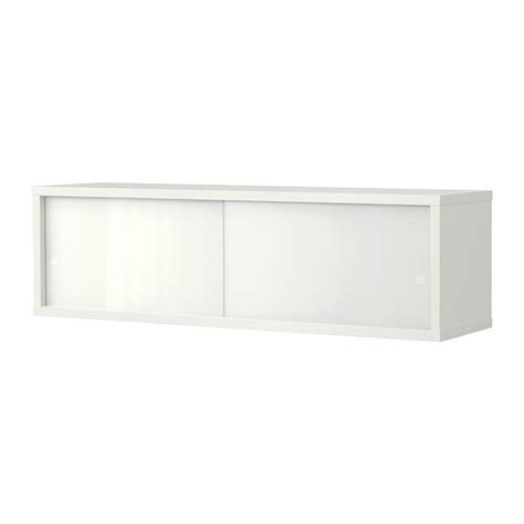 Glass Door Kitchen Wall Cabinets 214 Sthamra Wall Cabinet With 2 Glass Doors 80x23 Cm Ikea