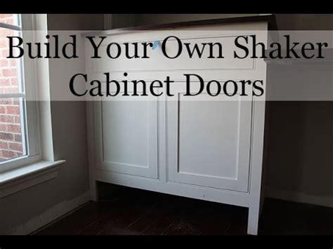 diy shaker cabinet doors youtube