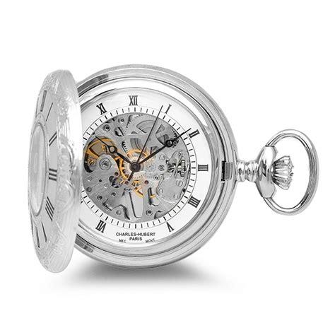 silver mechanical charles hubert pocket chain