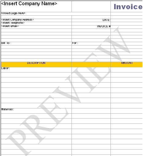 invoice template handyman hardhost info