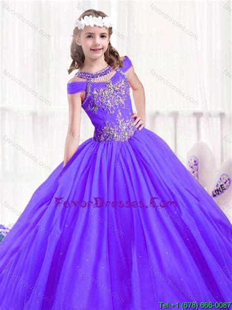 Beautiful Beading Ball Gown Little Girl Pageant Dresses