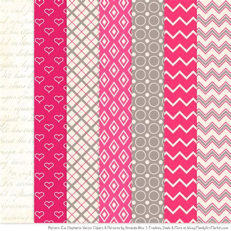 pink pattern clipart hot pink patterned elephant clipart and patterns