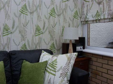 matching wallpaper and curtains fabrics interiors by george short curtains and blinds shop in