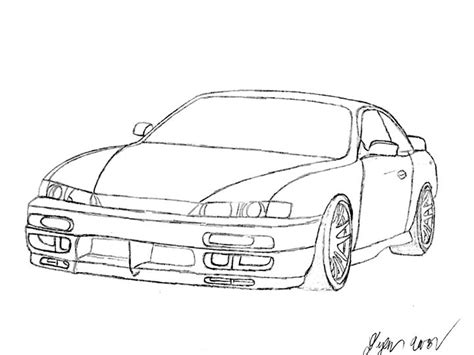 nissan silvia drawing nissan silvia s14 imperious design drawings