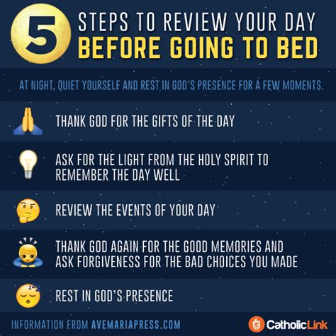 catholic prayer before bed catholic link s library infographic 5 steps to review
