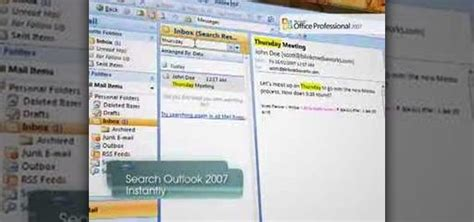 Finder Instant Search How To Find Data With Instant Search In Ms Outlook 2007 171 Microsoft Office