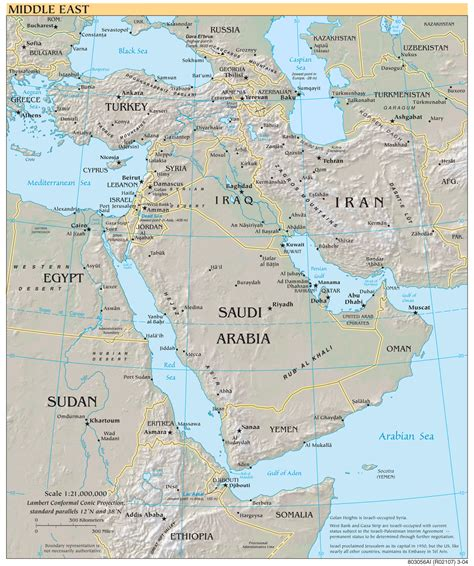 middle east map zoom middle east reference map mapsof net