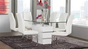 White Dining Room Furniture Sets Tria White 5 Pc Rectangle Dining Room Dining Room Sets White