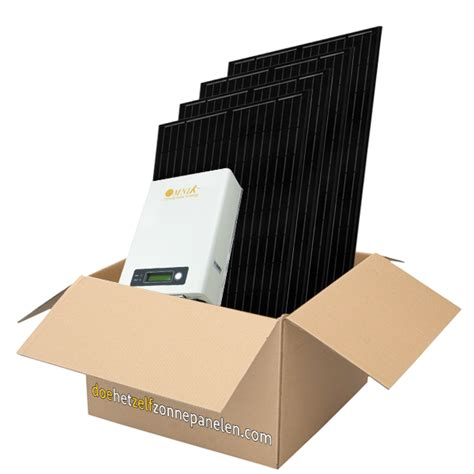 zonnepanelen 6 panelen pakket 6 stuks panelen 280wp full black doe het zelf