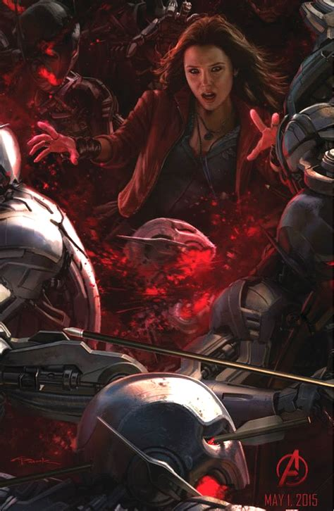 Poster The Age Of Ultron Scarlet Witch Ukuran A3 the age of ultron comic con 14 concept posters