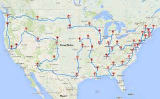 us map for driving this planned the most epic and efficient road trip