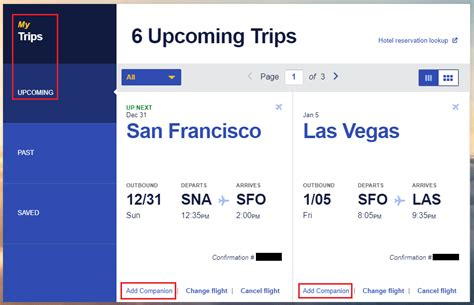 add  southwest airlines companion   existing reservation