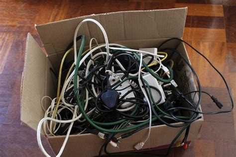 messy wires wire box organization upcycle that