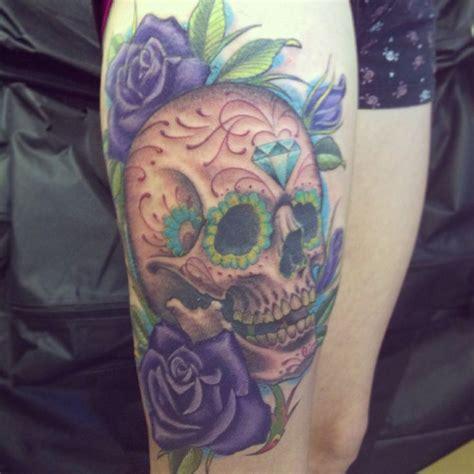 sugar skull thigh tattoos 25 best ideas about skull thigh tattoos on