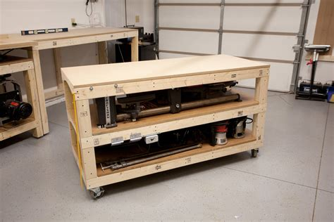 rolling tool bench workbench plans tommy s rolling workbench and miter saw station