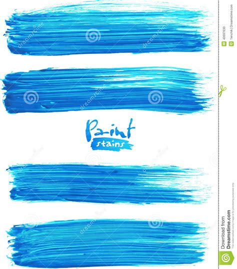 how to paint acrylic without brush strokes bright blue acrylic brush strokes stock vector image