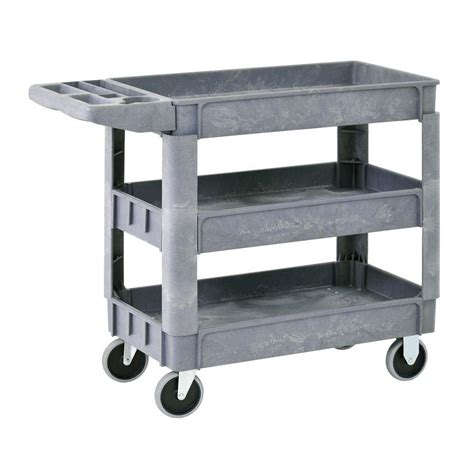 sandusky 5 cu ft 24 in w utility cart cw4824 the home