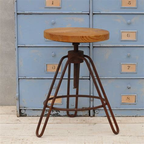 Metal Adjustable Height Bar Stools by Industrial Adjustable Height Bar Stool Metal Frame Home