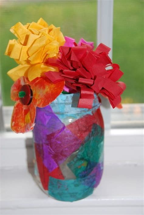 How To Make Tissue Paper Bouquet - diy tissue paper flower bouquet and vase homegrown friends