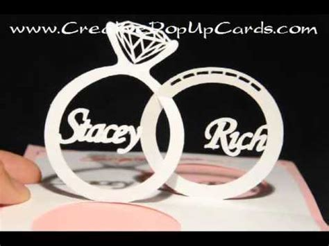 wedding ring pop up card template wedding pop up card linked rings
