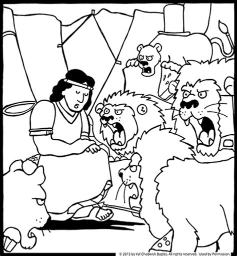 coloring page daniel in lions den daniel in the lion s den