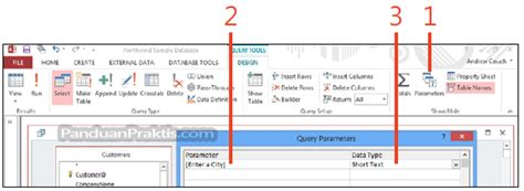 membuat query di sap cara membuat parameter untuk query di access 2013