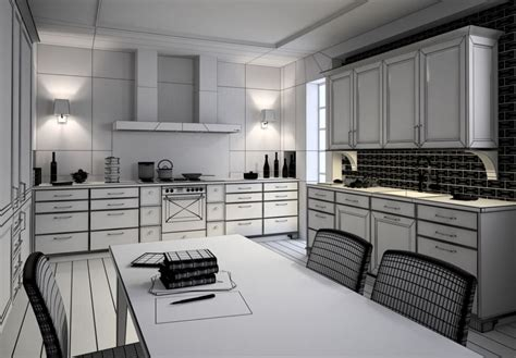 model kitchen room photorealistic kitchen room 3d model max cgtrader
