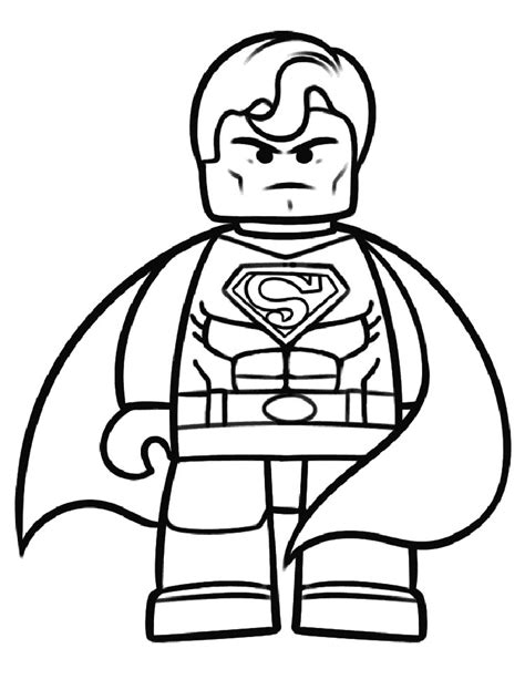 Legos Coloring Pages To Print by Lego Superman Coloring Pages Free Printable Ant