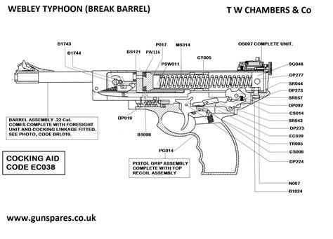 Seal Sharp Barrel typhoon barrel webley airgun spares chambers