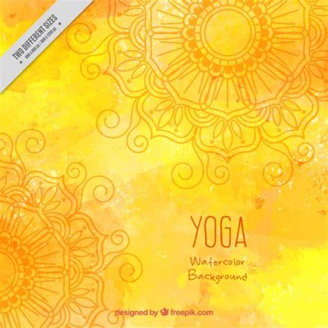 imagenes de fondo yoga fondo amarillo acuarela de yoga descargar vectores gratis