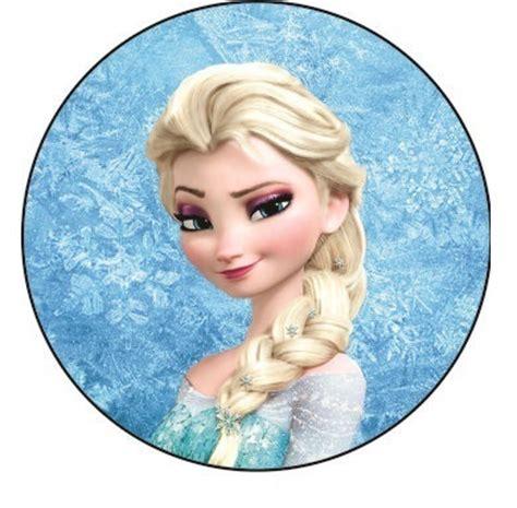 etiquetas circulares y toppers de frozen para decorar adornos de frozen toppers y wrappers de elsa y anna