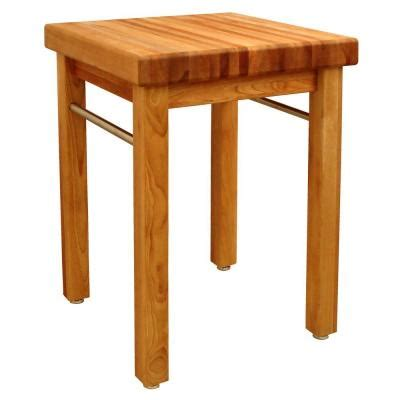catskill craftsmen french country 24 in square butcher block kitchen island 1925 the home depot