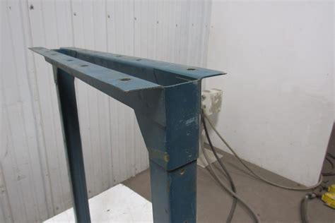 industrial table legs industrial steel shop table legs workbench conveyor legs 31 1 4 quot lot of 2 ebay