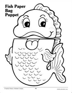 Paper Bag Fish Craft - tiger paper bag craft homeschool cats unit