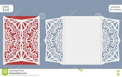 Basic Card Cuts Cardstock Template by Laser Cut Wedding Invitation Card Template Vector Die Cut