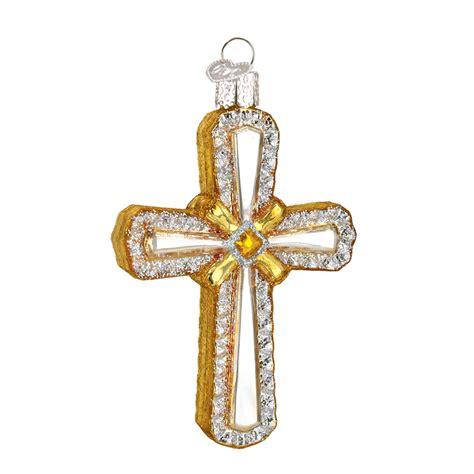 holy cross glass christmas ornament theholidaybarn com