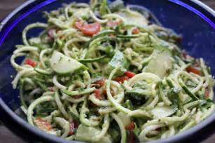 simple summer salad zucchini quot pasta quot salad with creamy