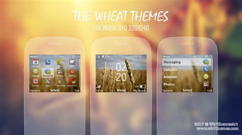 black theme for nokia c3 00 and x2 01 wb7themes wheat theme for nokia c3 00 x2 01 320x240 s406th asha