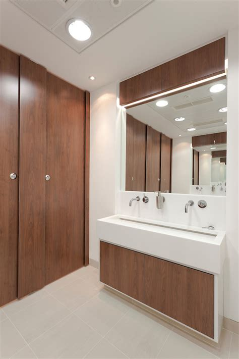 modern office bathroom modern office bathroom facilities with sink and mirror andy spain photo of the