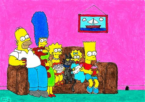 how to draw the simpsons on the couch the simpsons couch gag by stefanisdrawing on deviantart