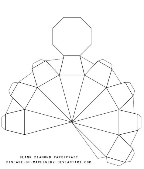 printable origami box templates blank diamond template by disease of machinery diy gifts